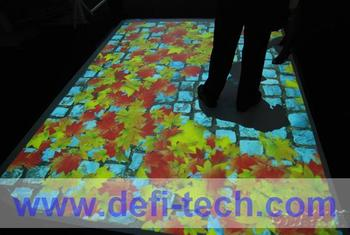 Interactive floor projection system for Advertising,for corporate function and entertainment with 111 effects