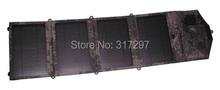 Portable Solar Panels for Camping+ Waterproof Folding Solar Bag+14 watt Solar Panel Battery Charger + Dual USB for iPad/Phone(China (Mainland))