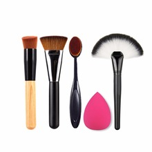 Buy New 5pcs/set Makeup Brush Powder Blush Foundation Brush Sponge Puff Contour Brush Beauty Face Tools Fashion Women Cosmetics Kits for $5.62 in AliExpress store