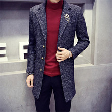 2015 New Arrival British High Quality Style Trench Coat Men's Woolen Jackets Brand Designed Outdoors Wool Coats Overcoat(China (Mainland))