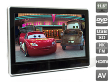 Headrest Car Monitor HDMI 11.6 inch. DVD player and HD media player. LCD 1366x768 (DVD/USB/SD/IR/FM), AVS1233T(China (Mainland))