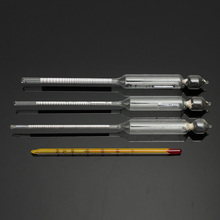Excellent Quality 3pcs Hydrometer Alcoholmeter Set 0 to 100% Alcohol Meter Test + Thermometer(China (Mainland))
