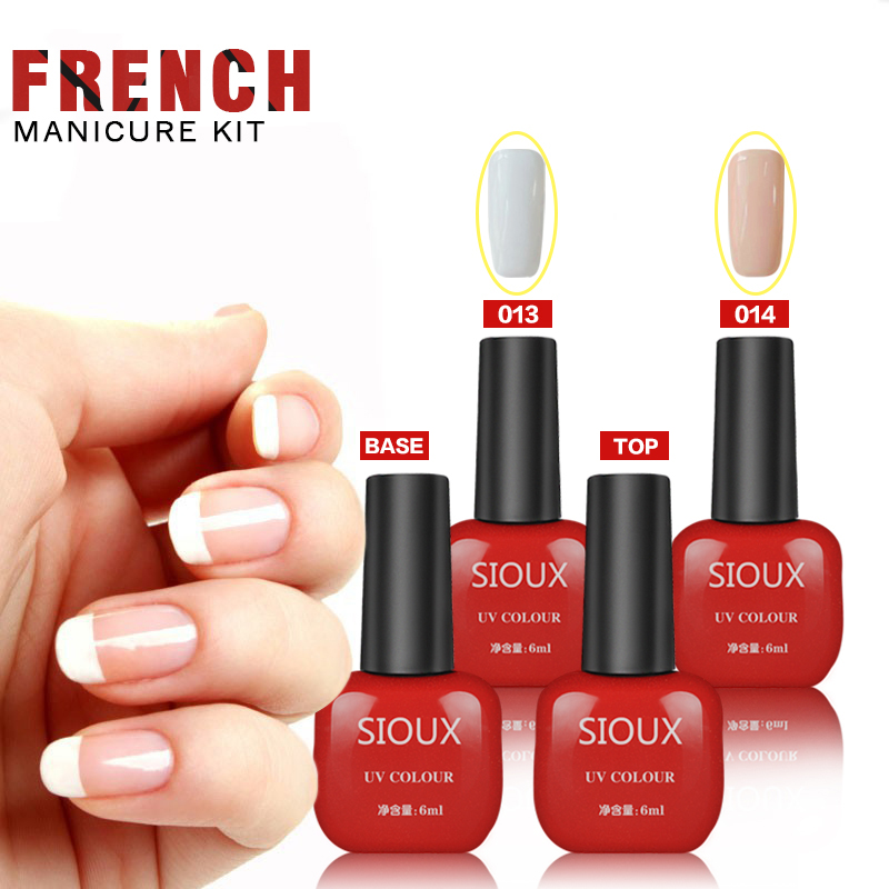 Wholesale-Sioux Nail Art Color Gel French Type Kit Manicure Sets UV ...