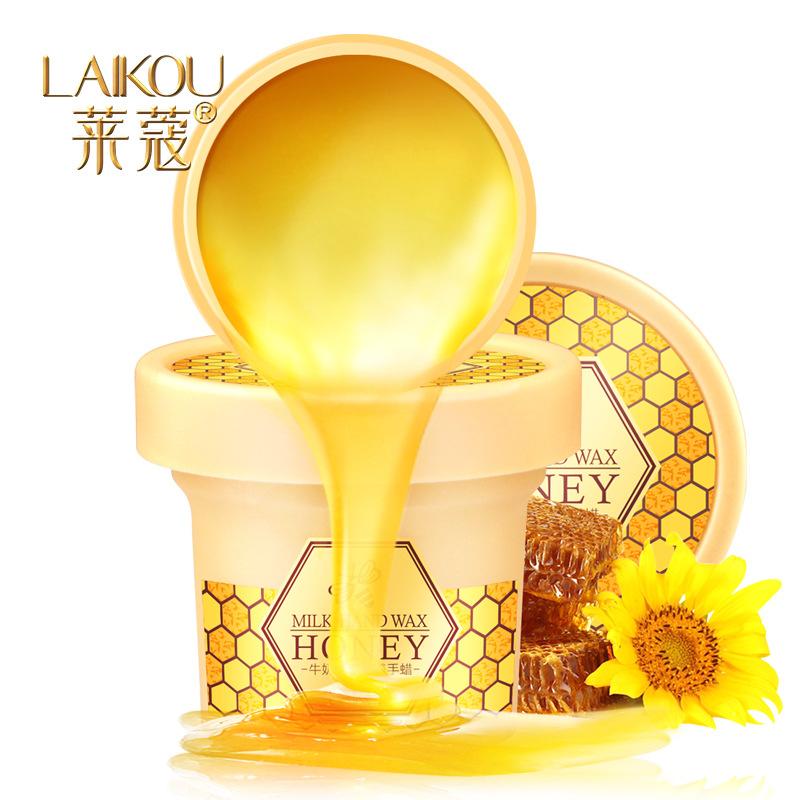 LAIKOU Paraffin Bath Hand Mask Milk Honey Whitening Tender Exfoliating Hand Wax Moisturizing Nourish hand film Hand Care