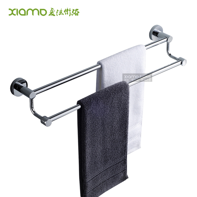Free shipping stainless steel double towel rack stainless steel towel bar bathroom hardware accessories
