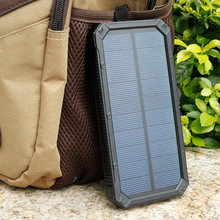 Solar Charger 20000mAh Power Bank Portable Mobile Phone Pover Bank Powerbank External Battery LED Light Poverbank for Cell Phone(China (Mainland))