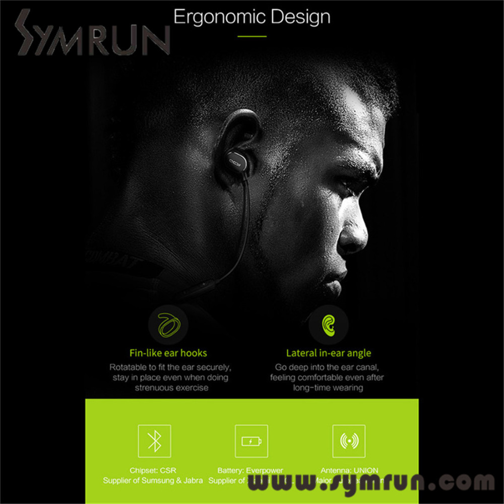Symrun Qy19 Bluetooth Stereo Earphone Wireless Sport Headphones Music Headset Qcy Qy19 Phantom(China (Mainland))