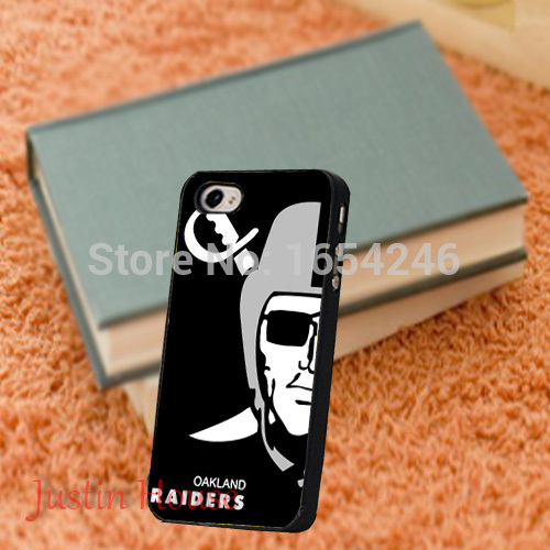 Wonderful Oakland Raiders Hard Plastic Protective Thin Soft Customized Back Cover Bag for iPhone 4 4s 5 5s 5c 6 6plus(China (Mainland))