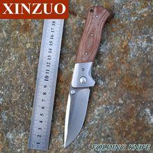 2015 el más nuevo XINZUO alta calidad y-iniciar exterior aventura y entrenando cuchillo plegable AUS-8 balde Micarta envío gratis