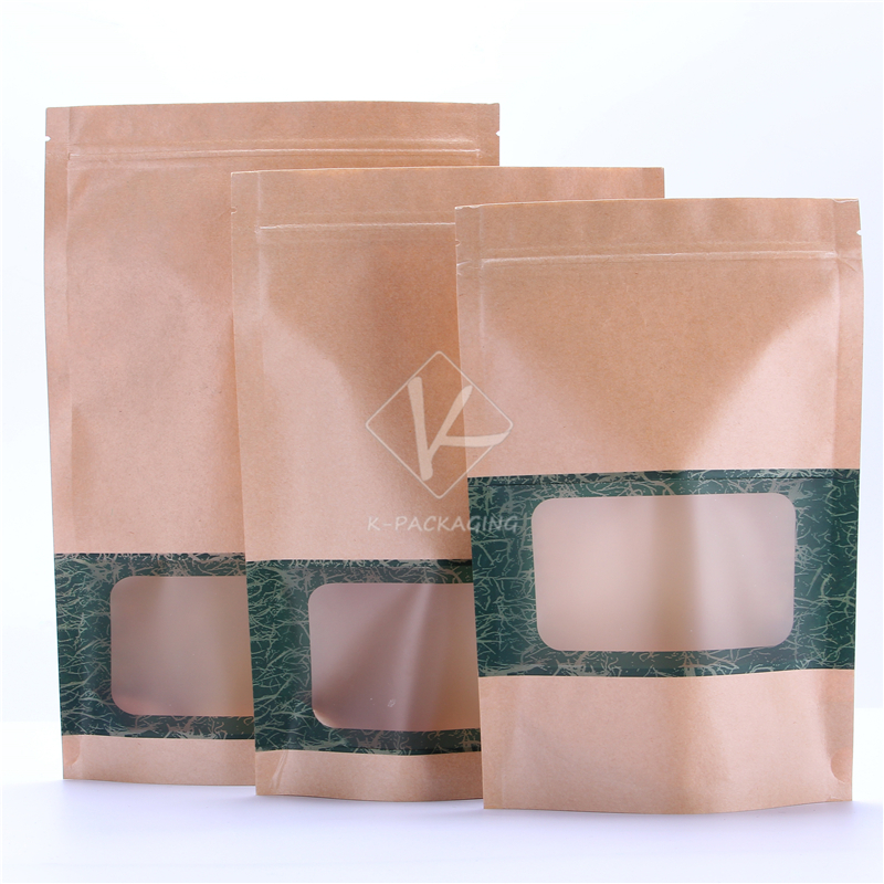 2015 Hot Wholesale 1000 Pcs 16x24cm Waterproof Window Paper Bags / Stand Up Zipper Bags / Food Flexible Packaging(China (Mainland))