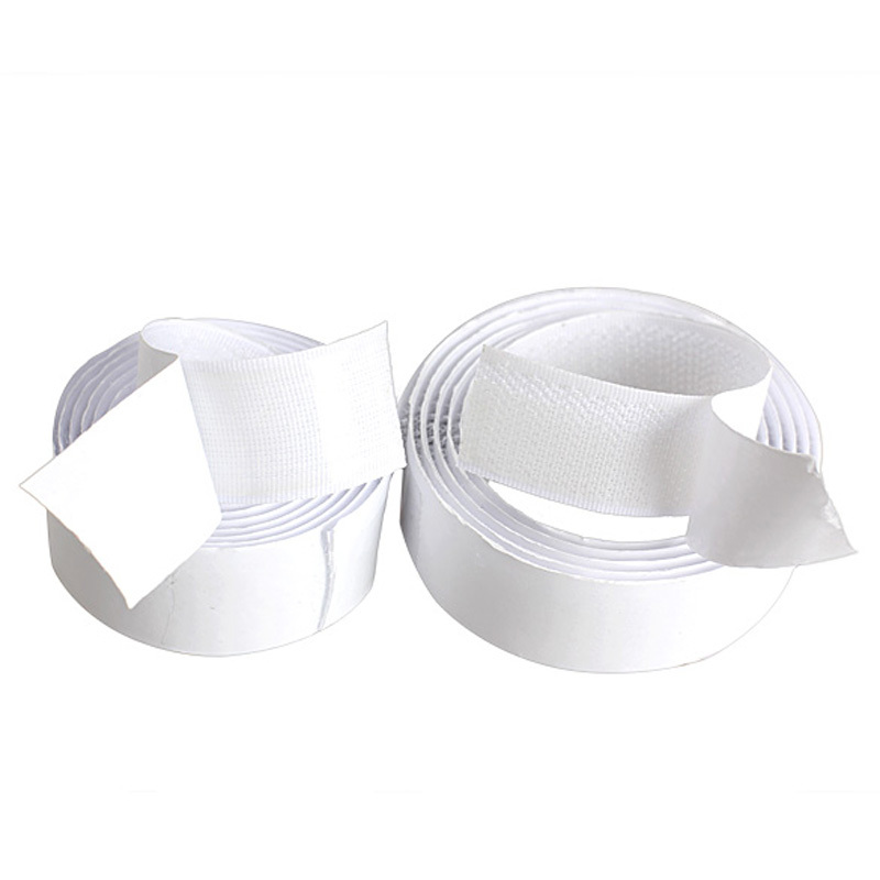 New 2 Rolls Strong Self Adhesive Magic Hook Loop Tape Fastener 1m White MGO3