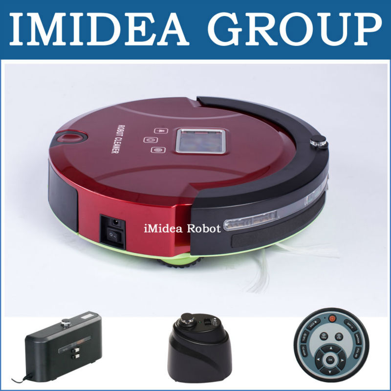 Free Shipping to Ukraine by Air,Vacuum Cleaning Robot,LCD,Touch,Schedule,Auto Charging,2 PCS Virtual Wall, Avoid Bumping, 50dB