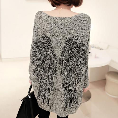 Женский пуловер / Fashon Camisola Batwing o WZL313