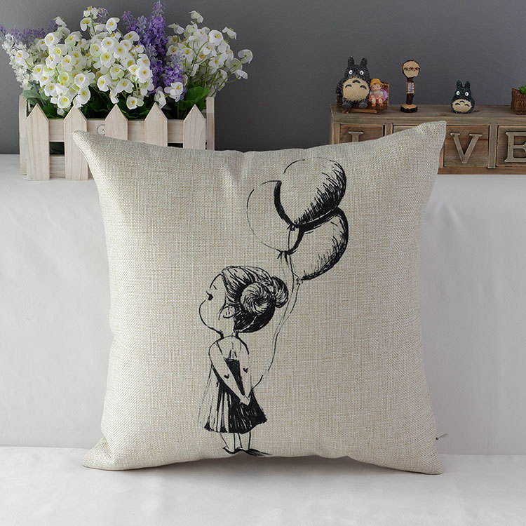 Shabby Chic Decor Pillows : Burlap decoration cushion covers cotton linen sofa throw pillows retro vintage pillowcases ...