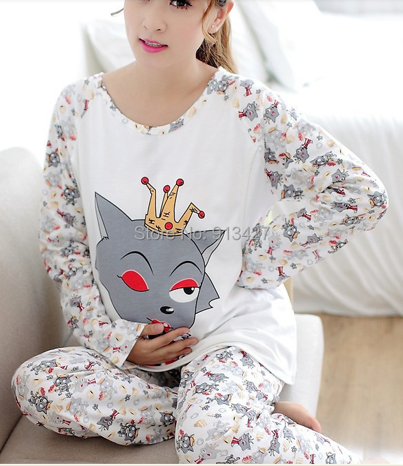 Pregnant Women Nightwear Maternity Character Printed Home Clothing Cotton Nursing Clothes Set Animal Pajamas Suits - Online Store pioussunny store