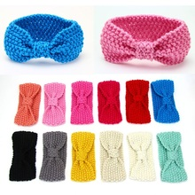 New Fashion Baby Girl Knit Crochet Turban Headband Warm Headbands Hair accessories For Newborns Hairband Kids Child Headwear(China (Mainland))