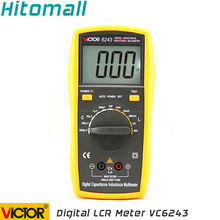 Профессиональный виктор емкости индуктивности LCR цифровой мультиметр сопротивление VC6243
