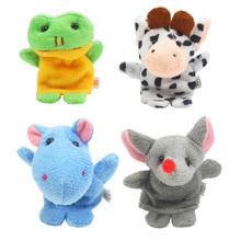 10x Cartoon Biological Animal Finger Puppet Plush Toys Child Baby Favor Dolls K5BO(China (Mainland))