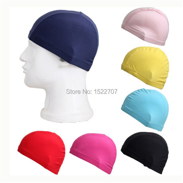 2015 hot sale women men Adult Cloth swimming cap surf hat Protect Ears Long Hair Sports Swim Pool Shower cap free shipping(China (Mainland))