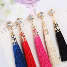 2015 New Arrive National Style Fashion  Tassel Dangle Earrings Drop Earrings For Women Pendientes Brincos   ED006(China (Mainland))