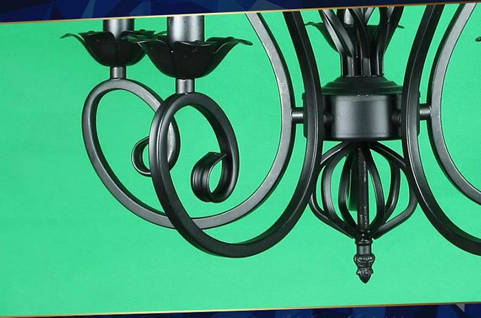 lustres wrought iron chandelier e14 candle light white indus