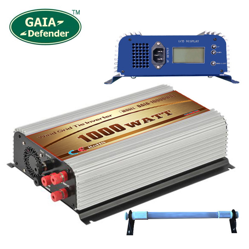 1000W Wind Grid Tie Inverter with Resistor AC/DC 45v-90v to AC 220v 230v 240v LCD 3 phase generator(China (Mainland))