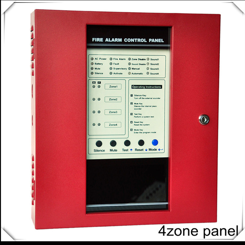 4 Zones Fire Alarm Control Panel Fire Alarm Control System Conventional Fire Control Panel