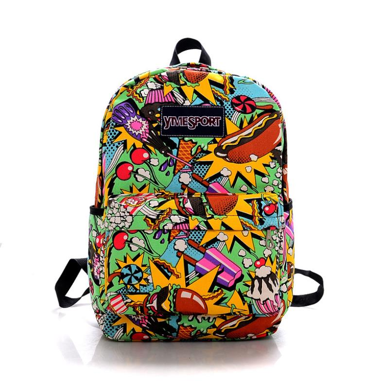 New-2014-fashion-food-printing-backpack-graffiti-city-beauty-colors ...: www.aliexpress.com/item/New-2014-fashion-food-printing-backpack...
