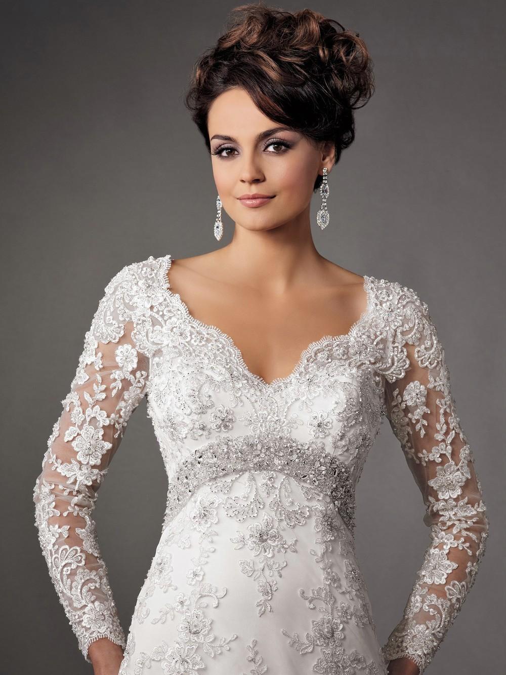 Mermaid Wedding Dresses Long Sleeves Wedding Dresses Long