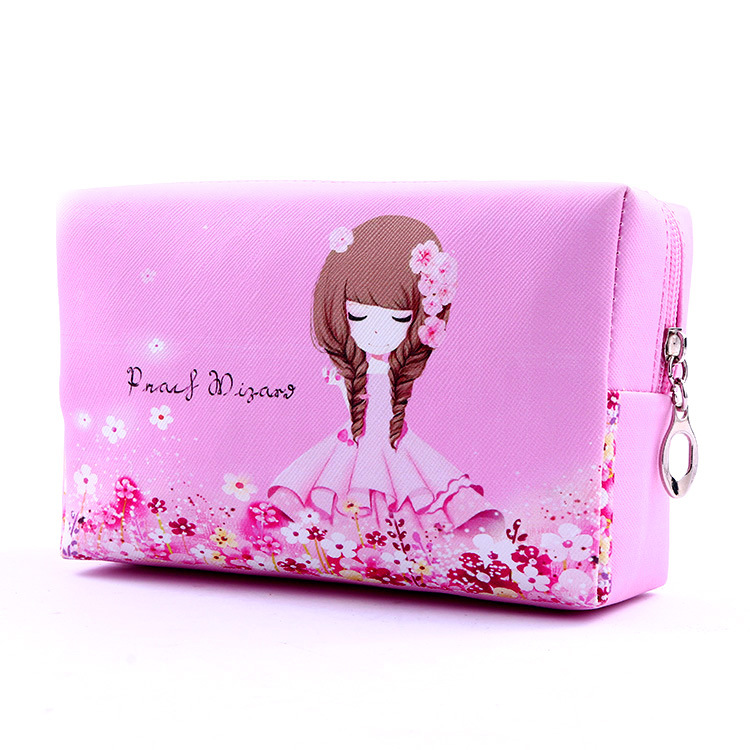 Promotional Lovely Girl Cute font b Cosmetic b font Case Bag Large Capacity Portable Women font