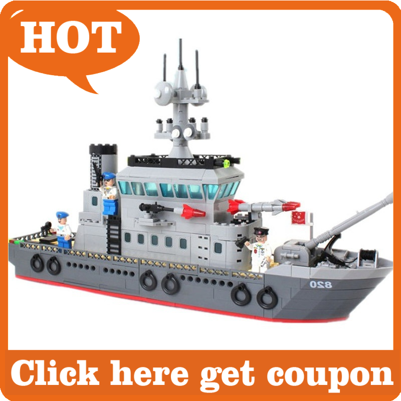 building block Compatible Lego military convoy 614pcs/ABS plastic ship model 820 toy