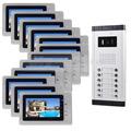DIYSECUR 7 Indoor Monitor Apartment Video Door Phone Doorbell Audio Visual Intercom Entry System IR Camera