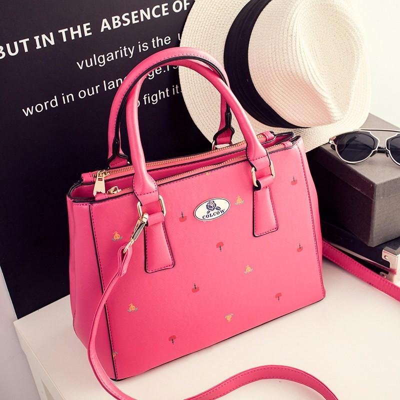 Designer Newest Flowers Printing Women Elegant Nubuck Leather Handbag Ladies PU Shoulder Bag Classy Inexpensive Crossbody Bag
