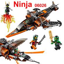 242pcs 2016 LEPIN 06026 blocks Phantom Ninja series Flying Shark Fighter MiniFigures educational toy Compatible With Legot 70601(China (Mainland))