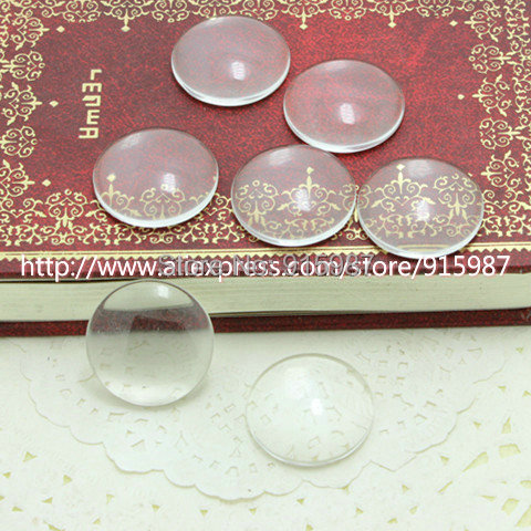 50pcs/lot clear glass cabochons tray pendant cover 18mm Clear Glass Pendant  A1696<br><br>Aliexpress