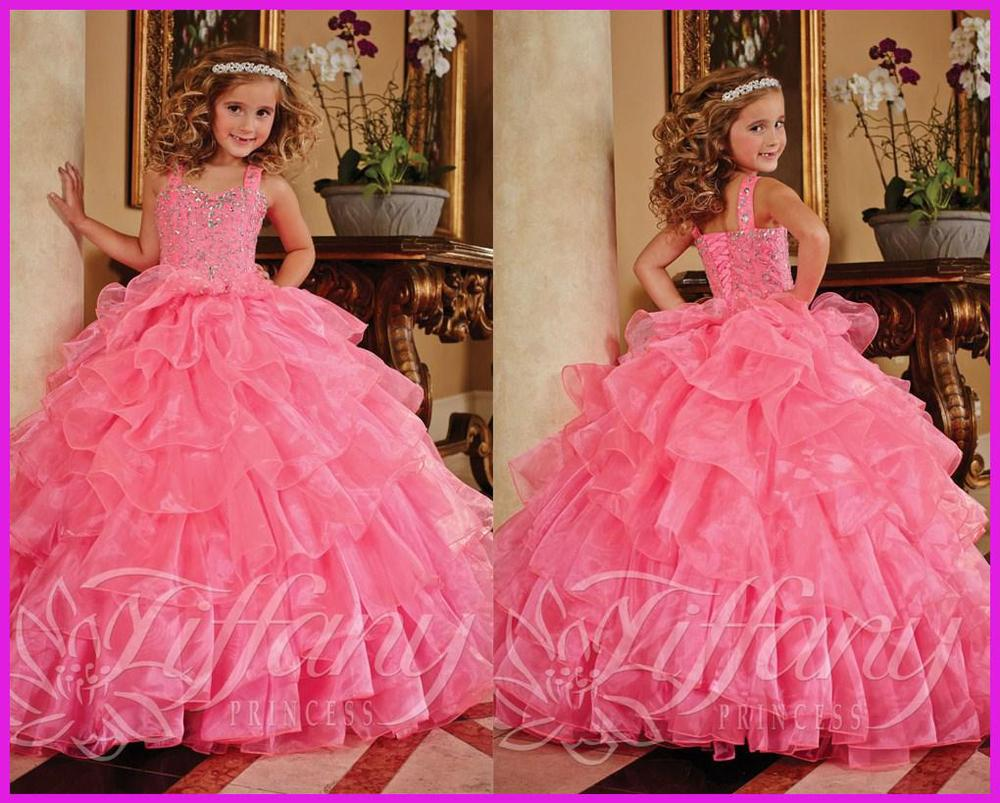 2015 Beautiful flower girl dress weddings floor length beading communion sleeveless vestidos de novia 2M142 - ebelz forever store