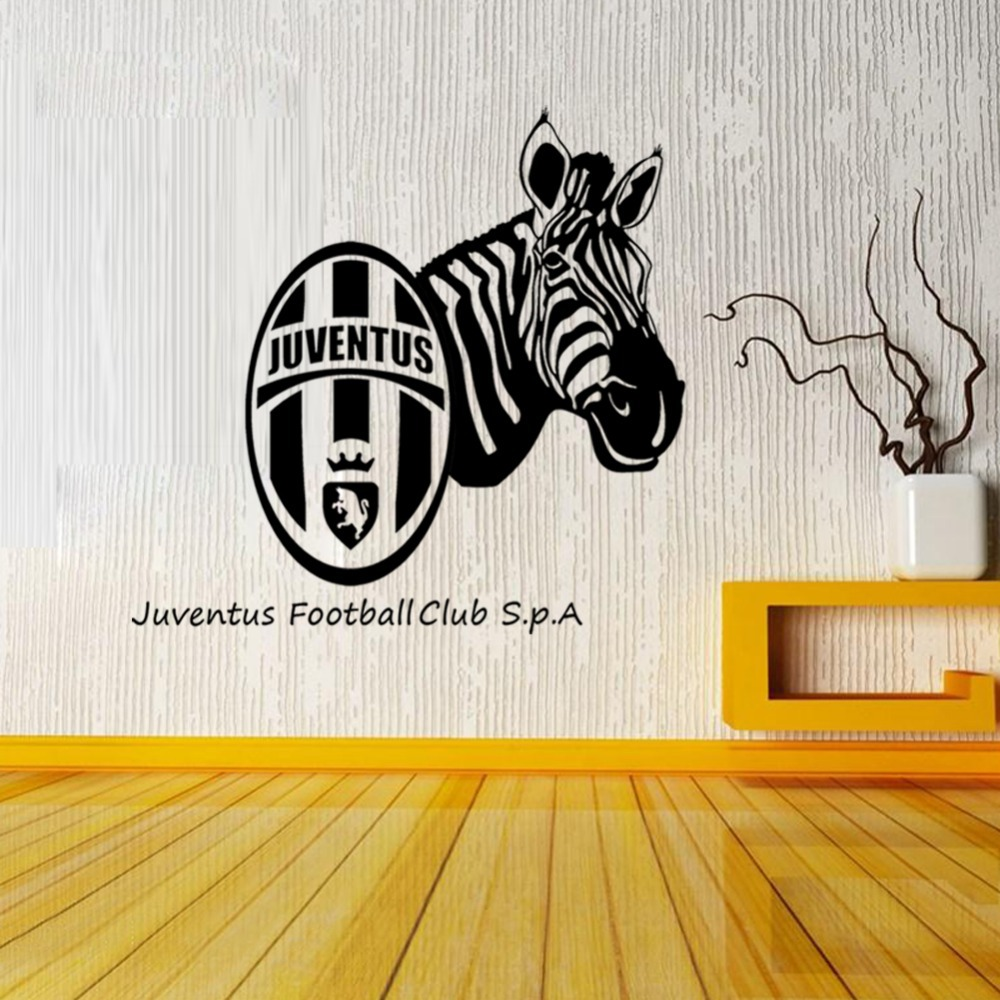 Vc large football juventus zebra wall stickers foreign
