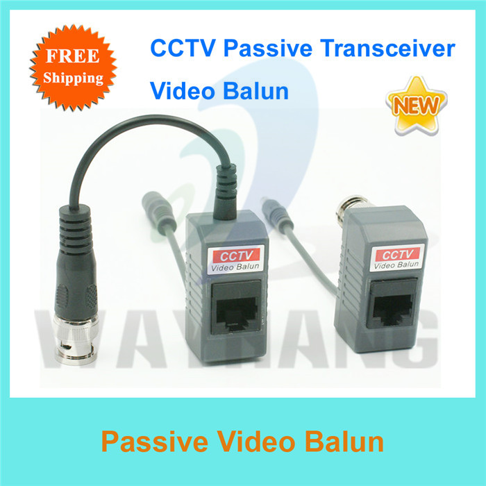 Free Shipping 2pcs BNC Coax CCTV Video Power Balun Transceiver Cable 12VDC/24VAC power via CAT5 cable(China (Mainland))