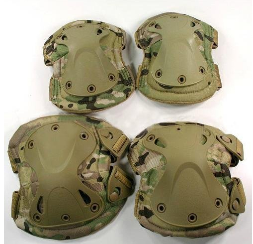 Free Shipping New Outdoor Tactical Military Outdoor Sport Knee & Elbow Protective Pads CP Camo Hunting products(China (Mainland))