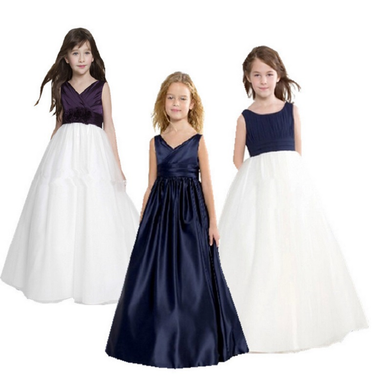 High Quality Baby Girl Dress children girls elegant ceremonies wedding birthday dresses teenagers prom gowns 3style(China (Mainland))