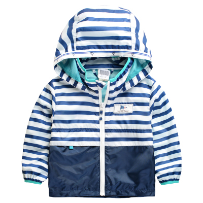 Children Outerwear Casual Hooded Raincoat Kids Clothes Waterproof and Windproof Boys Jackets For Age 2-8T Spring and Autumn(China (Mainland))