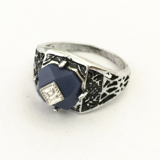 Freeshipping wholesale 20pc a lot  Vampire Diaries caroline Ring Alloy with Blue Semi-precious Stone Vampire Jewelry BB33