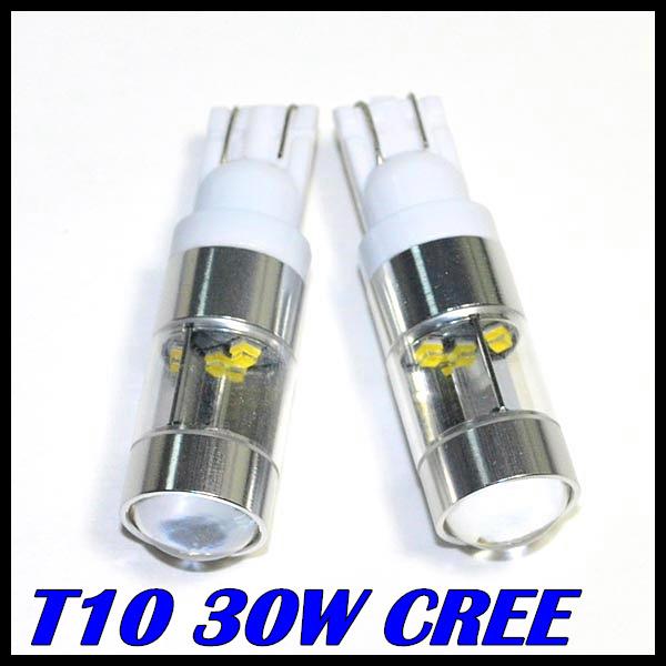 Гаджет  2pcs/lot Super Brightness White High Power 30W CREE XQB T10 194 W5W 912 921  LED Bulbs for Car Back Up Backup Reverse Lights None Автомобили и Мотоциклы