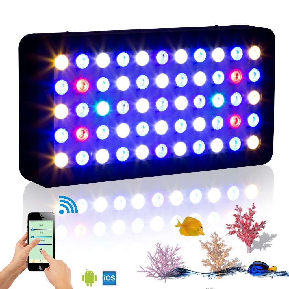 Wifi 165w marine aquarium led lighting dimmable full for Led fish tank lights