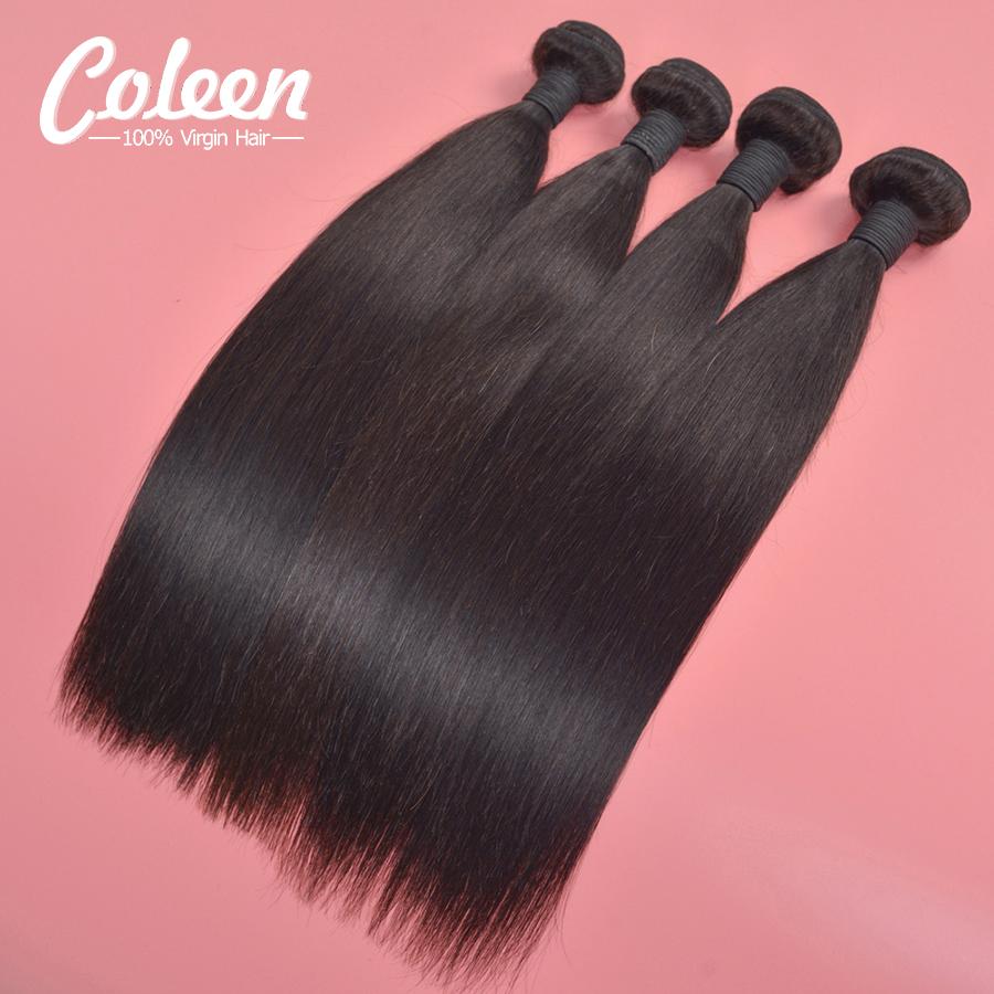 Peruvian Straight Virgin Hair 8inch-30inch Queen Hair Products 6A Grade Peruvian Hair Silky Straight 4 Bundle Deals Human Hair(China (Mainland))
