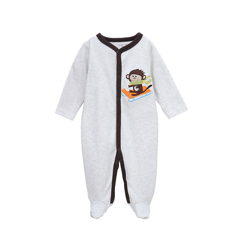 Mother Nest One piece Baby Bodysuit Clothes Winter Boys Clothing Girls Footies Soft Infant Newborn Sleepwear Baby Clothes (1)