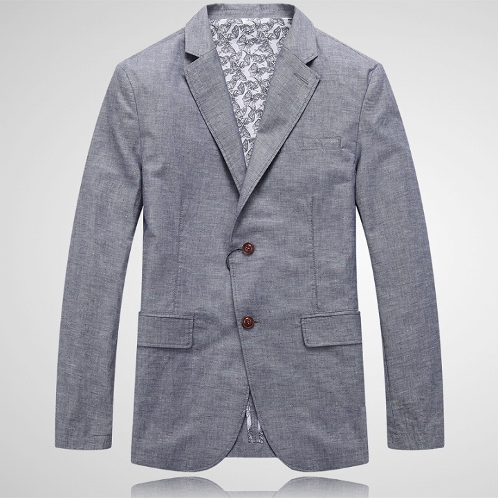 2016 new arrival spring and summer casual men's clothing linen blazer fashion male dishabille suit plus size 48 50 52 54 56(China (Mainland))