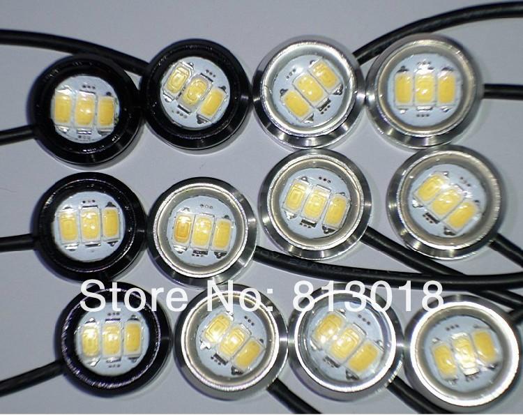 1 12V 3W Car led Reverse eagle eye light daytime running lights DRL backup tail lamp, color choice - letin international store