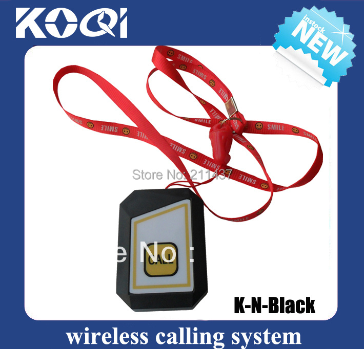 Black button for elderly 12V can be hang around the neck K-N for wireless panic button call system(China (Mainland))