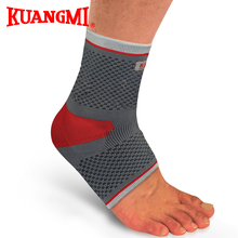 Kuangmi Silica gel Knitted Elastic Compression Ankle Sleeve Volleyball Basketball Ankle Brace Support Sports Safety Guard(China (Mainland))